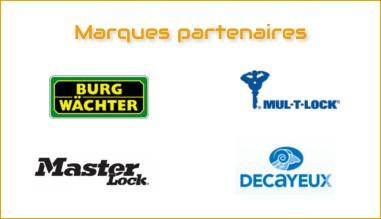 Nos partenaires Burg Wächter - Mul-T-Lock - Decayeux - Master Lock